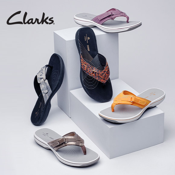 All About Color Shop New Colors In Clarks Breeze Sea Sandals