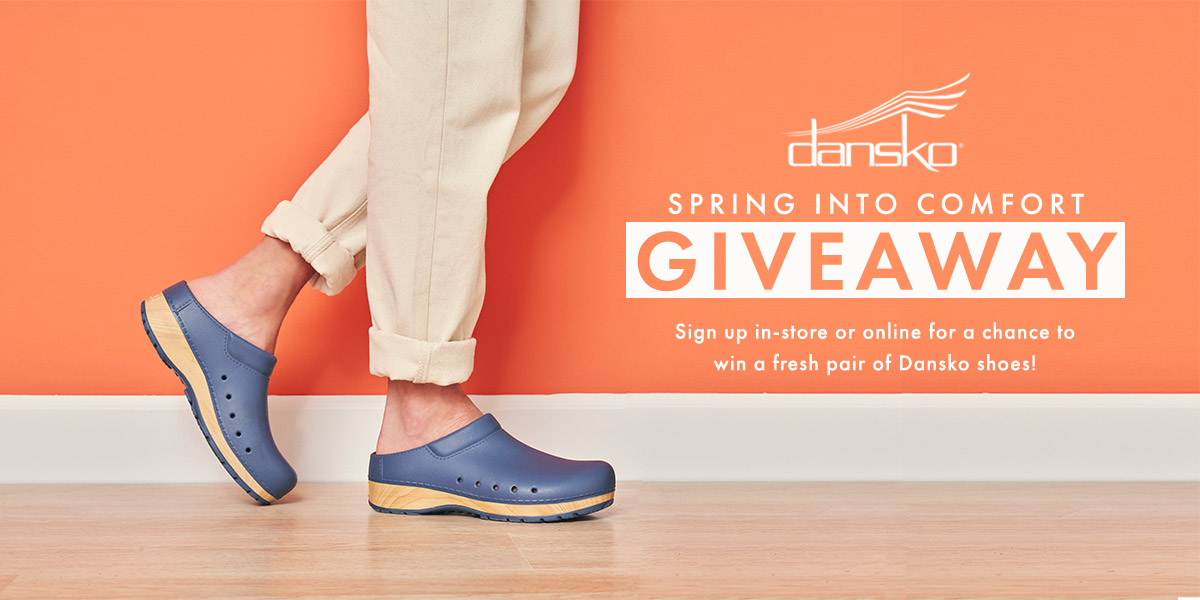 Spring Into Comfort Giveaway to win a free pair of Dansko shoes!