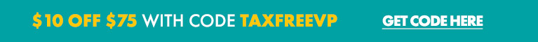 TAX FREE WEEK! $10 OFF $75 or more with code TAXFREEVP - Valid thru 8/11