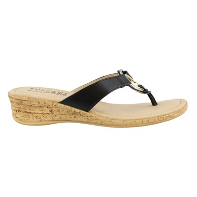 Women's Easy Street, Fina Low Heel Thong Sandals