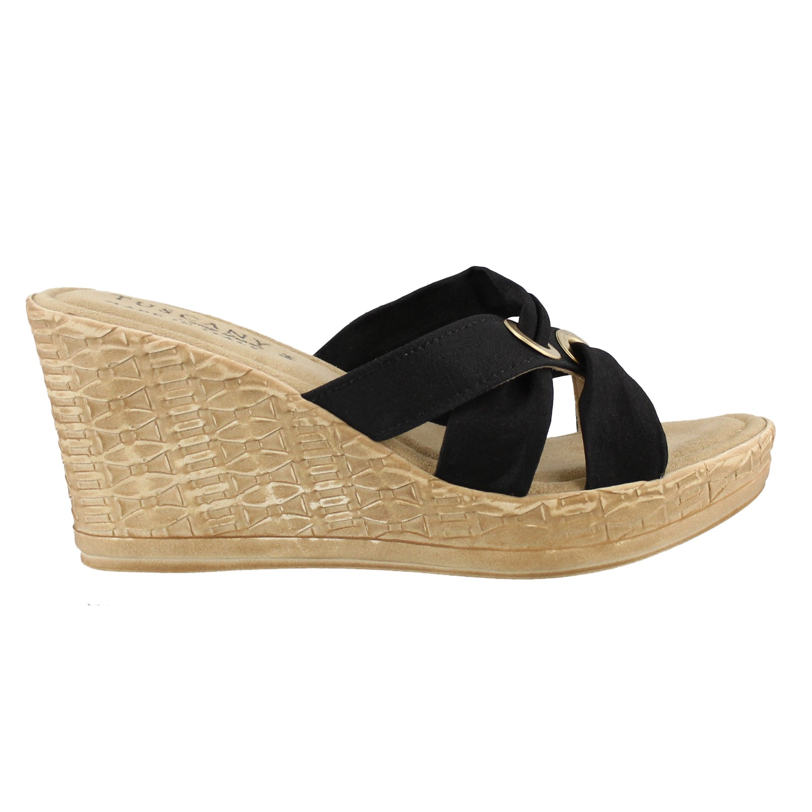 Women's Easy Street, Solaro High Heel Wedge Sandal