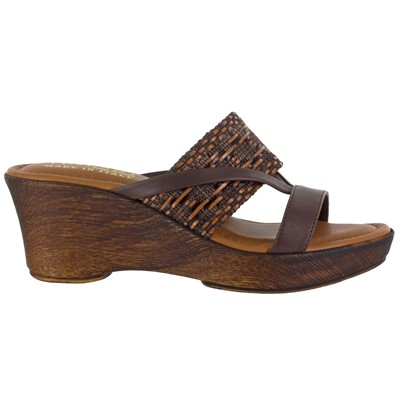 Women's Easy Street, Rachele Mid Heel Wedge Sandals