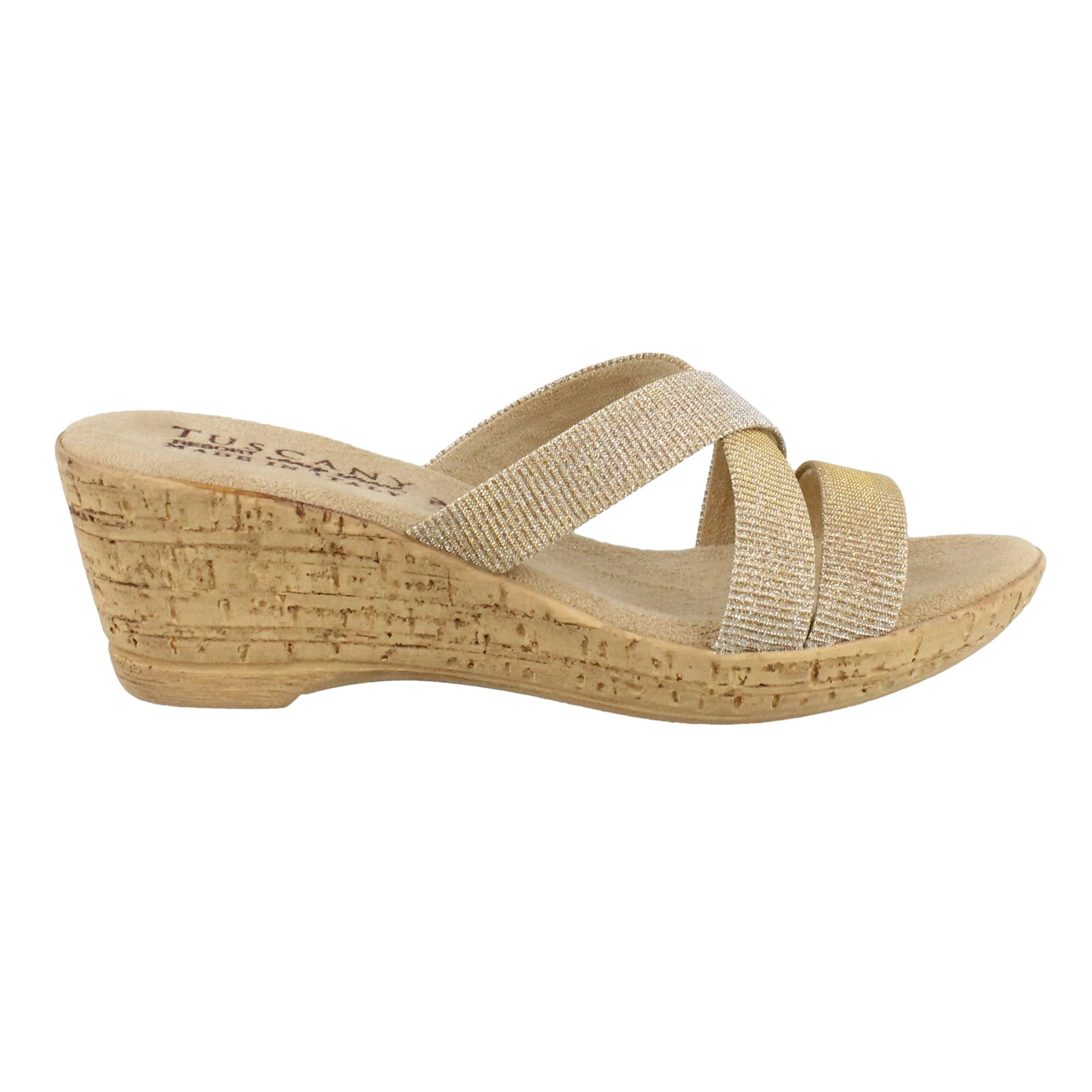 Women's Tuscany by Easy Street, Juliet Wedge Sandals