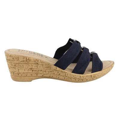 Women's Tuscany by Easy Street, Andrea Mid Heel Wedge Sandals