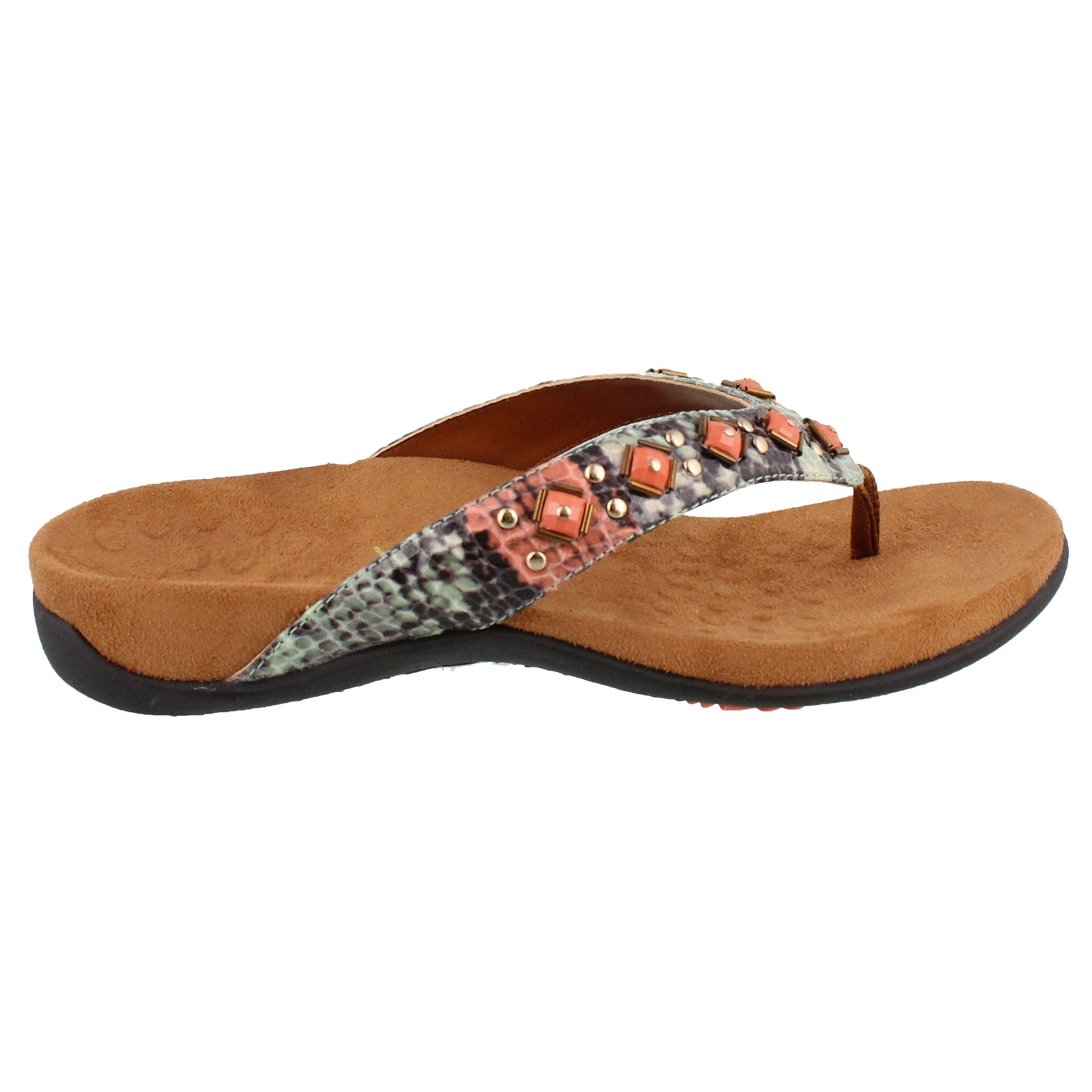 Women's Vionic, Floriana decorated Thong Sandals