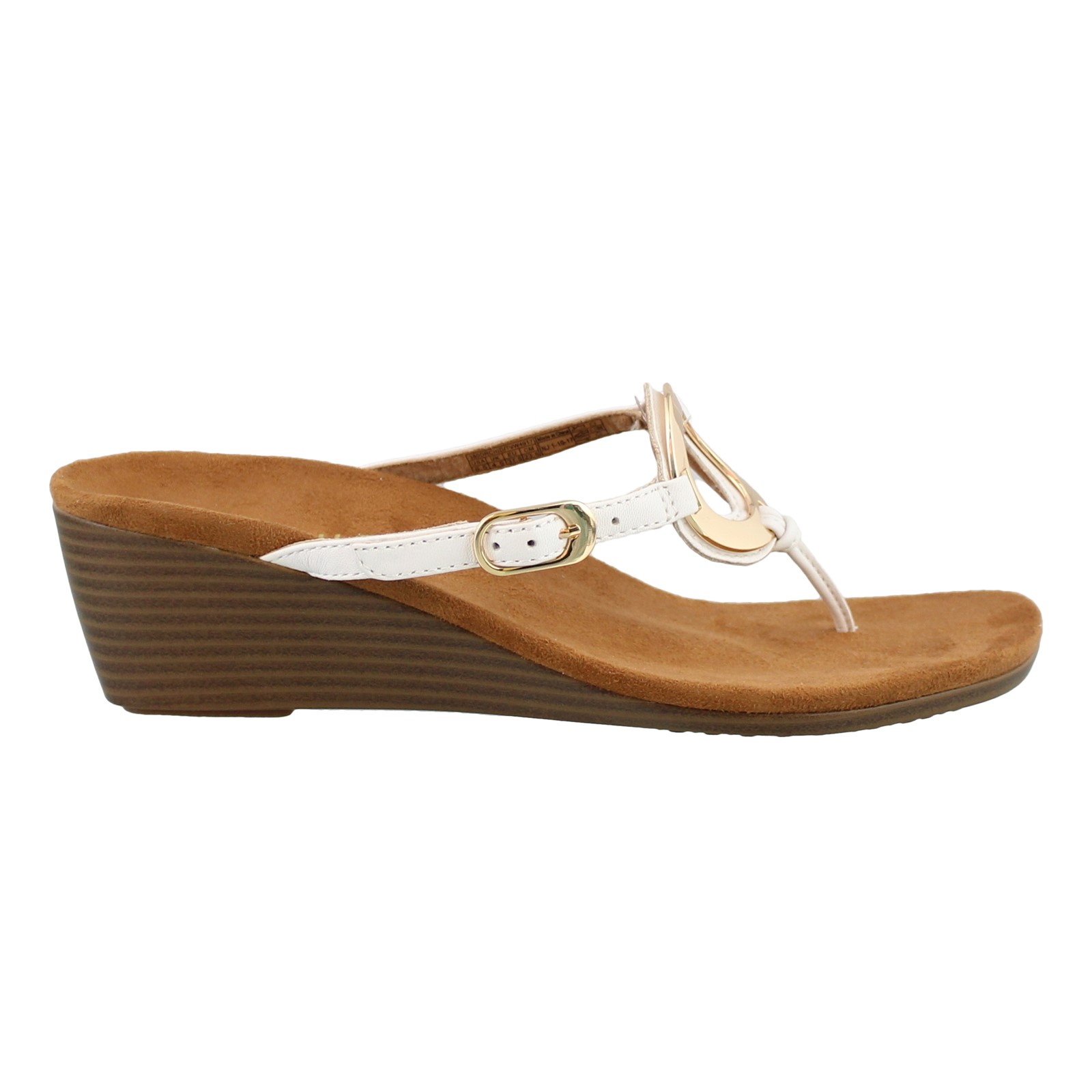 Women's Vionic, Park Orchid Mid Heel Wedge Sandals