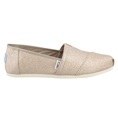 Women's Toms, Alpargata Shimmer Slip on Shoes