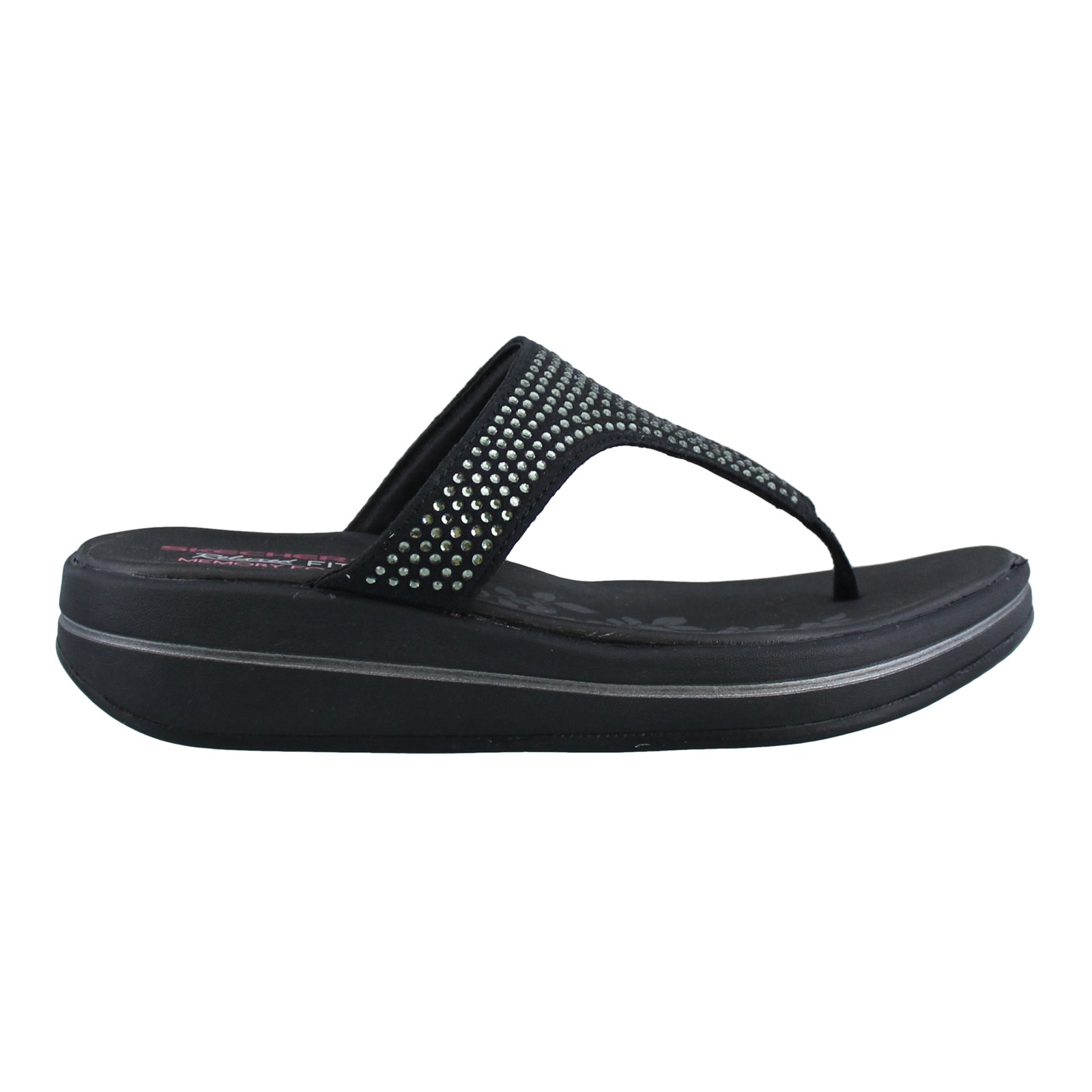 Women's Skechers, Upgrades Stones Thong Sandals