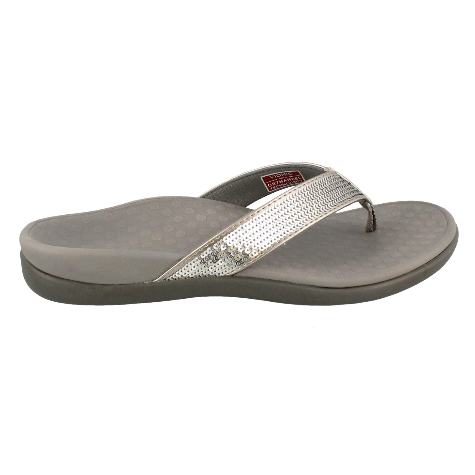 Women's Vionic, Tide sparkly thong sandals