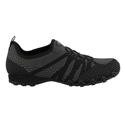 Women's Skechers, Bikers Knit Happens Slip on Shoes Wide Width