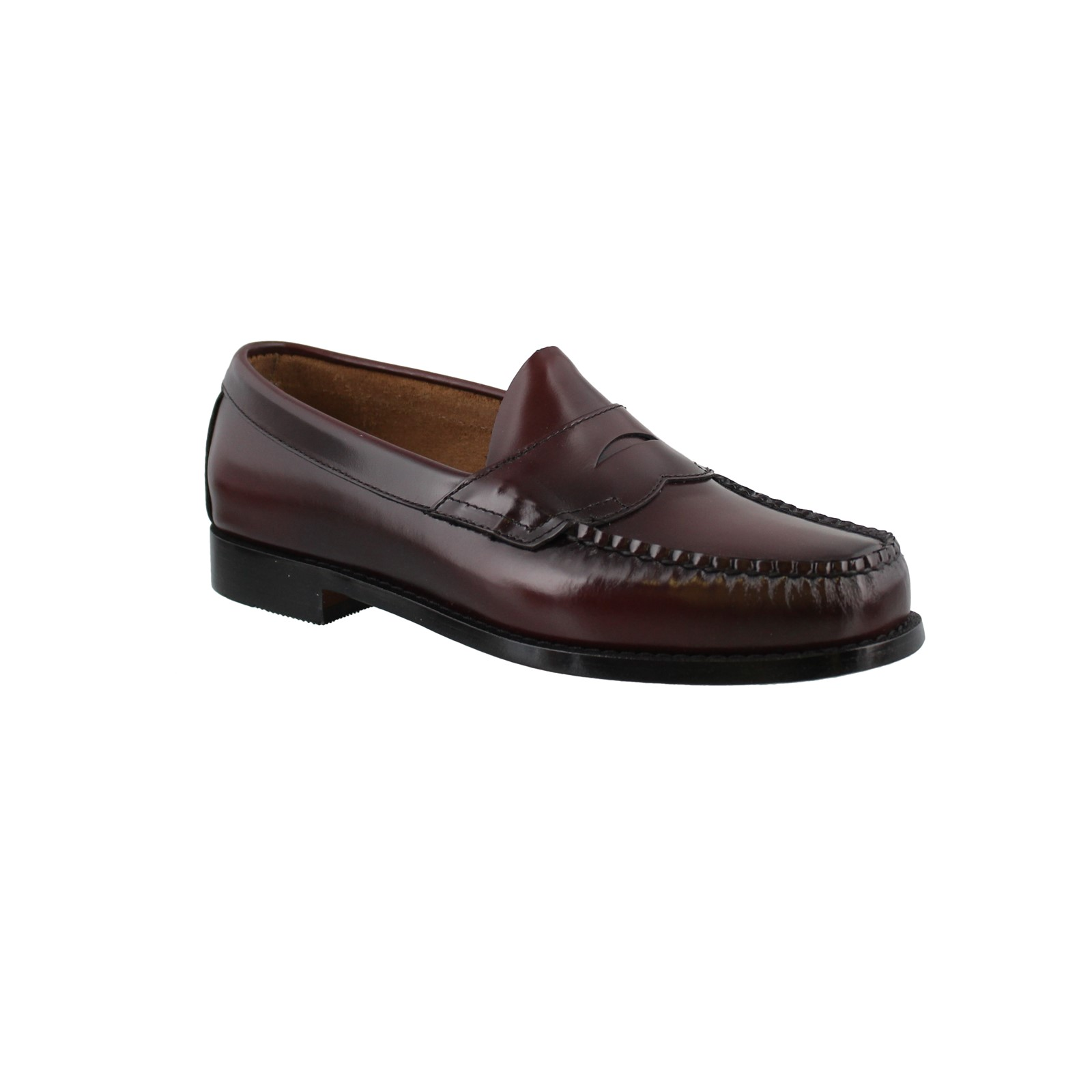 Bass Leather Shoes Logan Burgundy Penny Loafer 70-10949 Men Weejuns G.H