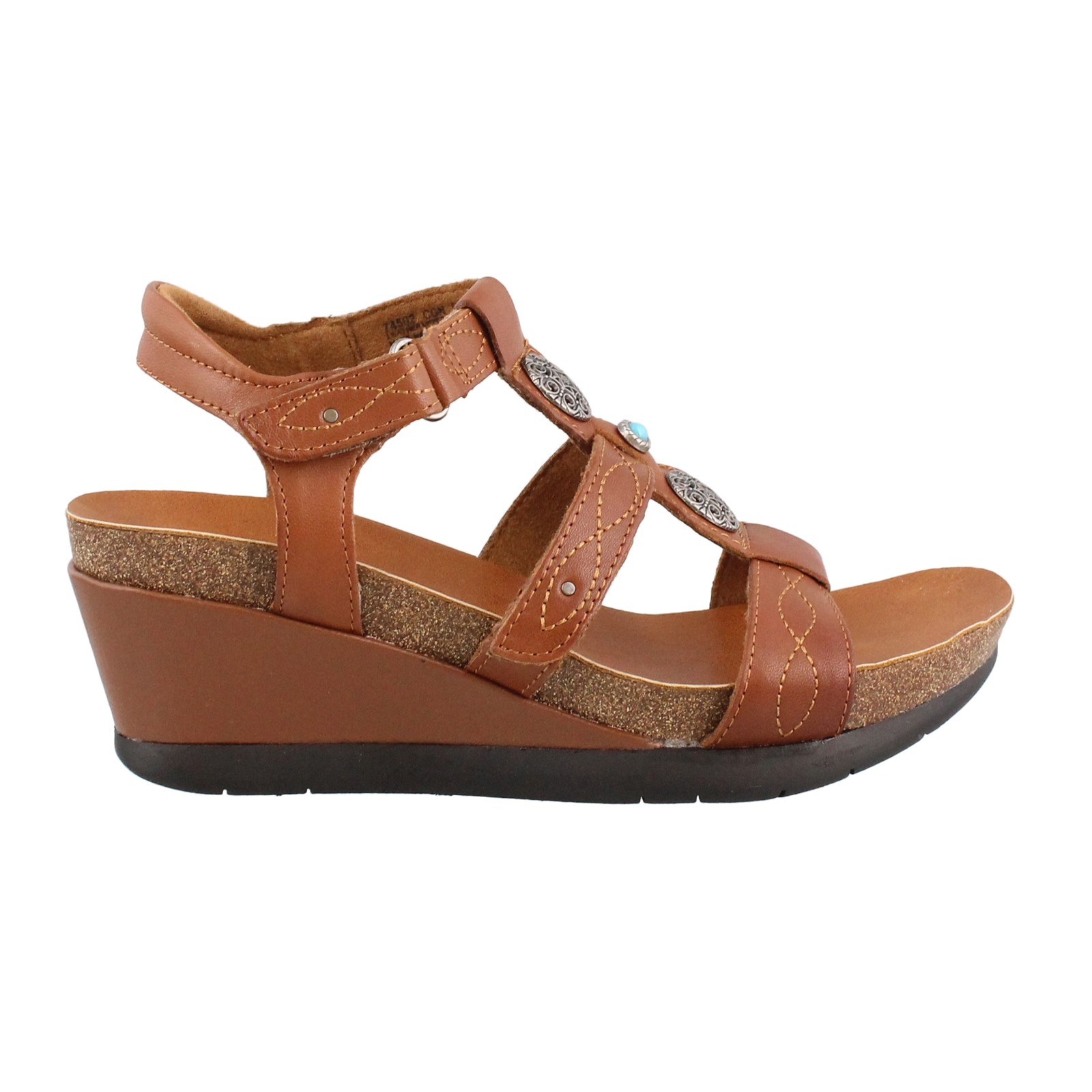 Women's Minnetonka, Della Mid Heel Wedge Sandals