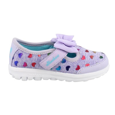 Girl's Skechers, Go Walk Bitty Hearts Shoes