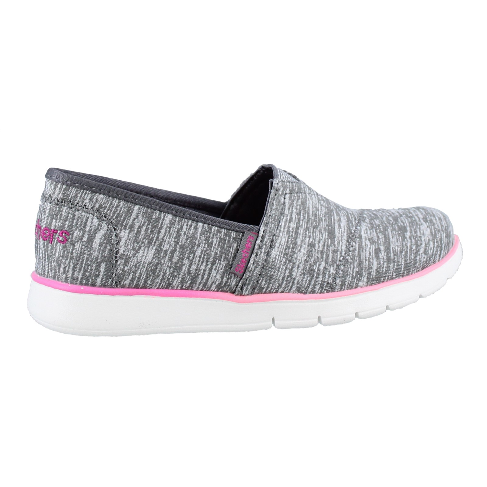 Girl's Skechers, Pureflex Jersey Joys Slip on Shoes