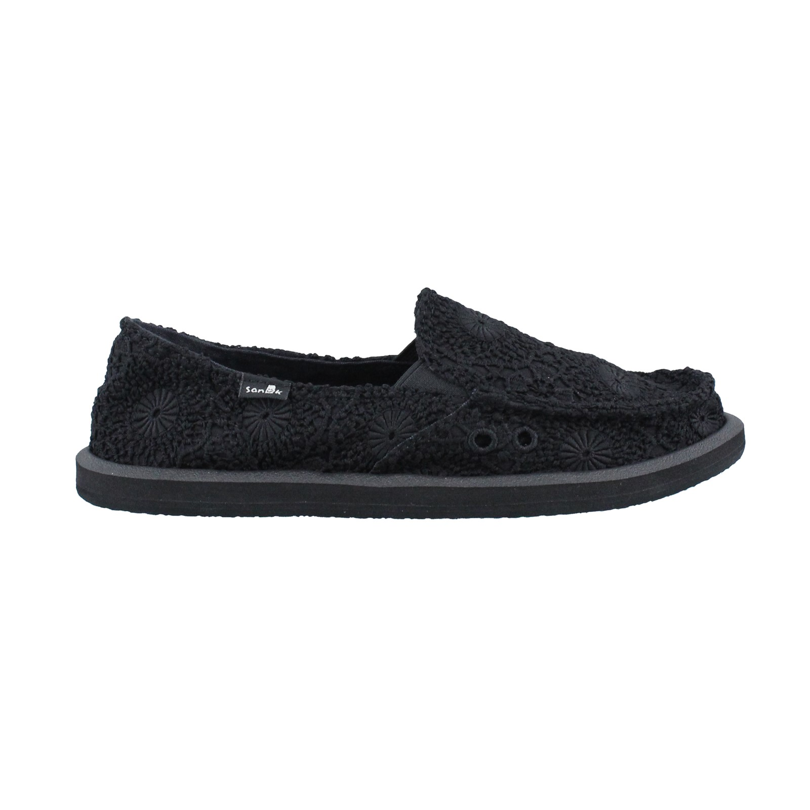 Women's Sanuk, Donna Crochet Slip on Shoe
