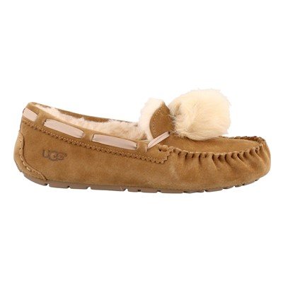 Women's Ugg, Dakota Pom Pom Slip on Moccasins