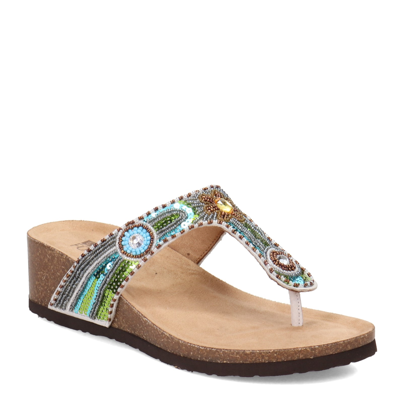 95018191937 Women's White Mountain, Bluejay thong Sandals