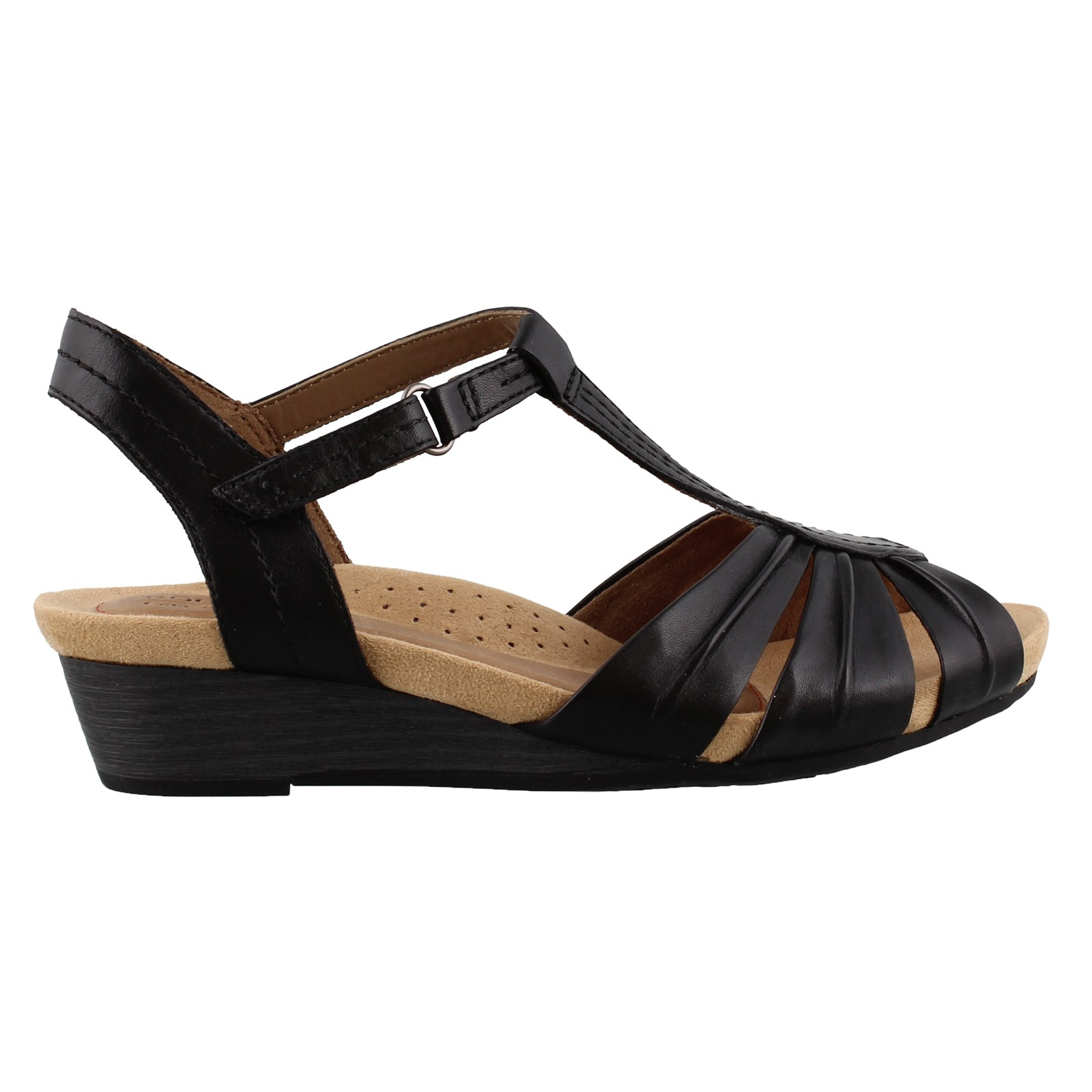 Women's Cobb Hill by Rockport, Hollywood Pleated T Strap Sandals