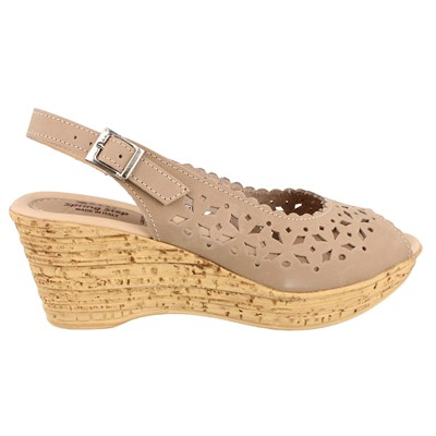 Women's Spring Step, Chaya Mid Heel Wedge Sandal