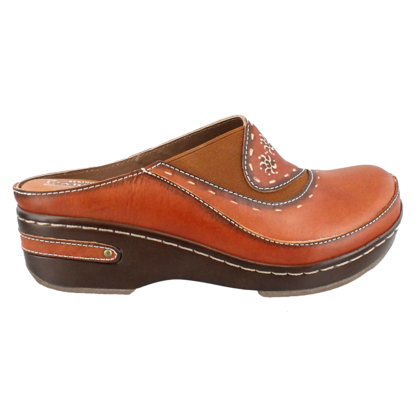 Women's Spring Step, Chino Slip on leather Clogs