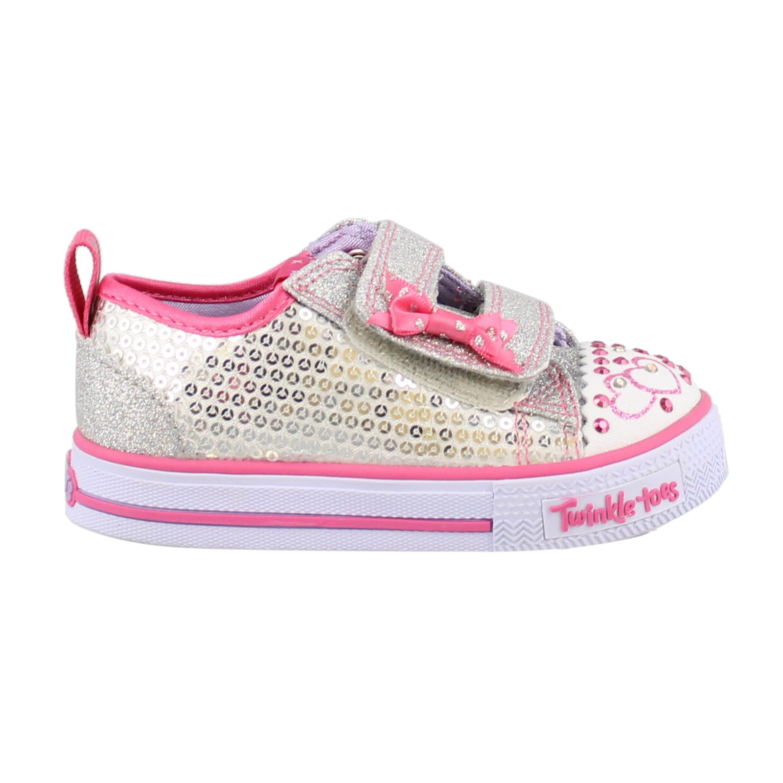 Girl's Skechers, S Lights Shuffles Itsy Bitsy Slip on Sneakers