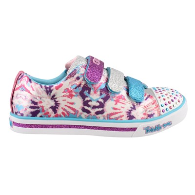 Girl's Skechers, S Lights Shuffles Sparkle Glitz Pop Party Shoes