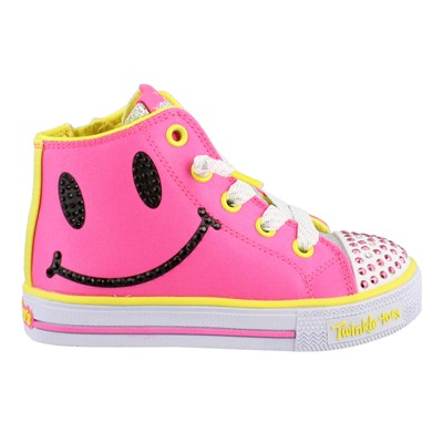 Girl's Skechers, S Lights Shuffles Sparkle Smile Shoes