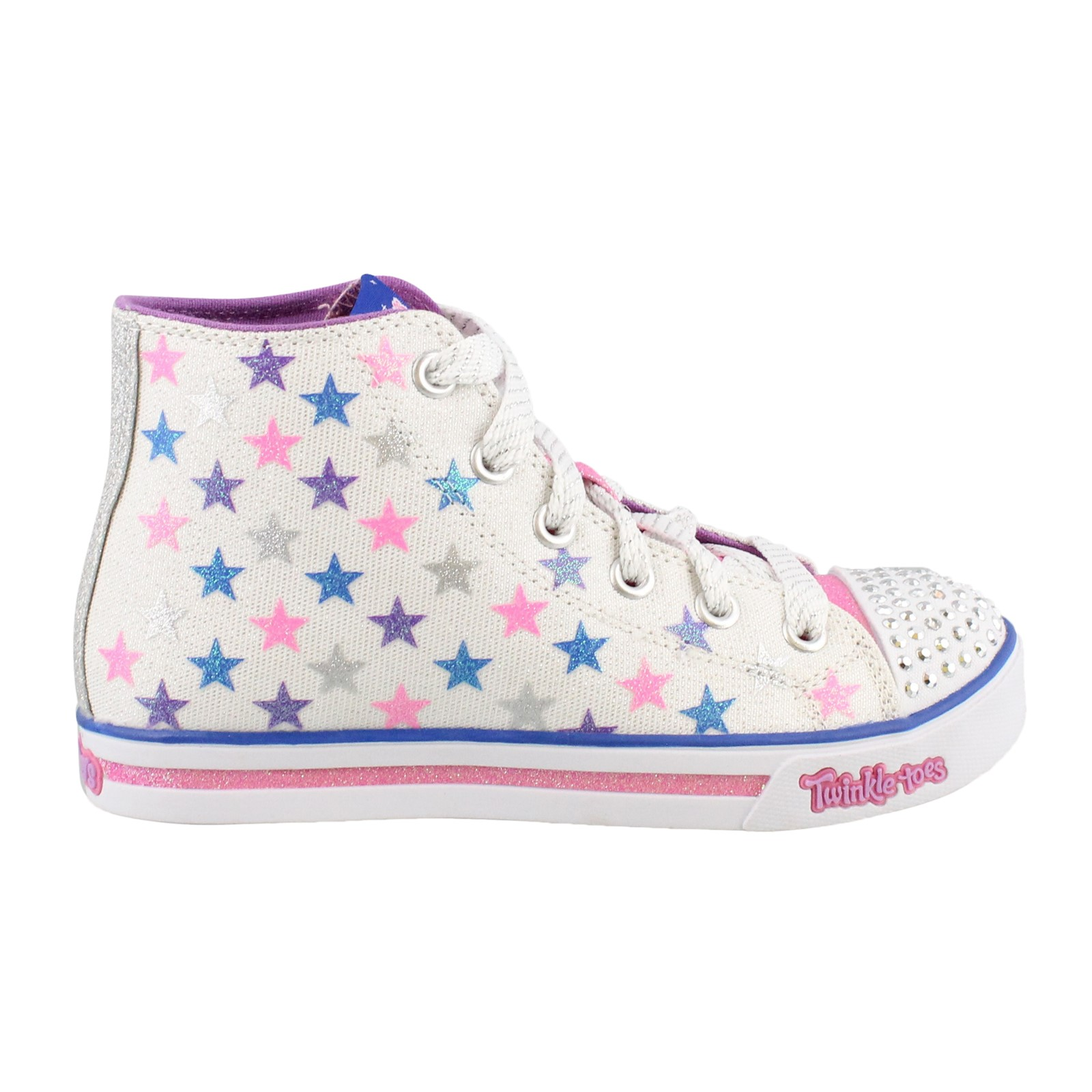 Girl's Skechers, S Lights Sparkle Glitz Shiny Starz Shoes