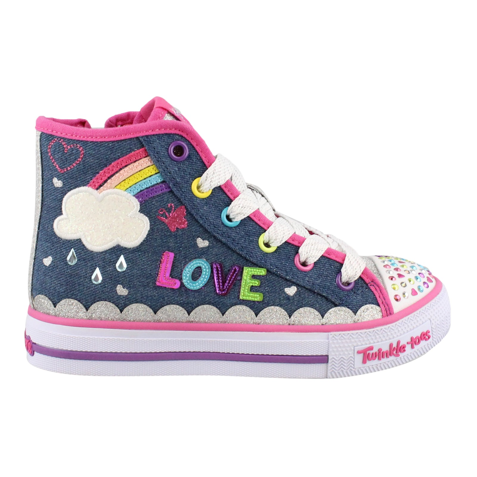 Girl's Skechers, S Lights Shuffles Sparkle Skies Light up Shoes