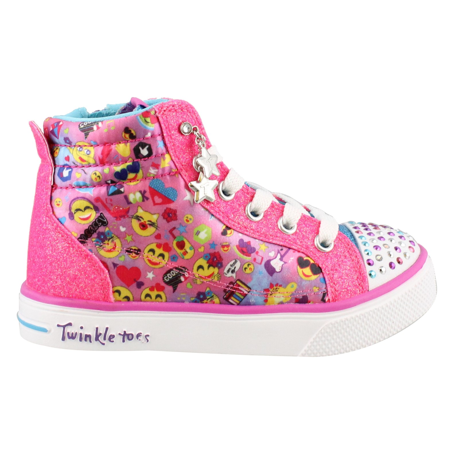 Girl's Skechers, S Lights Twinkle Breeze 2.0 Emoji Magic Shoes