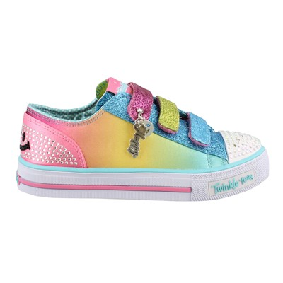 Girl's Skechers, Twinkle Toes Shuffles Stylin Smiles Shoes