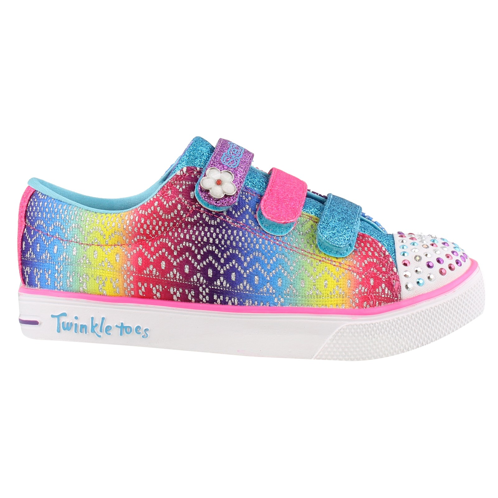 Girl's Skechers, S Lights Twinkle Breeze 2.0 Sunshine Crochets