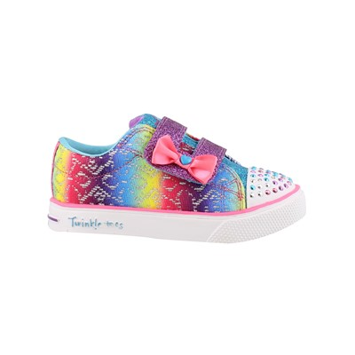 Girl's Skechers, Twinkle Toes Twinkle Breeze 2.0 Colorful Crochets Light up Shoes