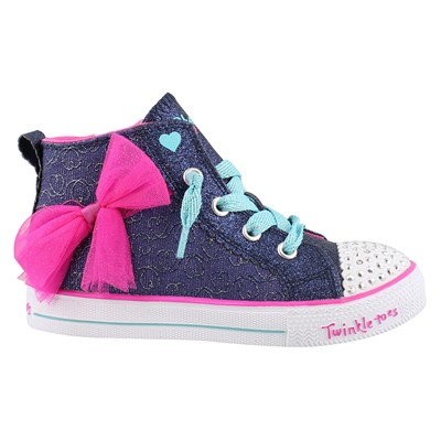Girl's Skechers, Twinkle Toes Shuffle Lite Harmony Hearts Shoes