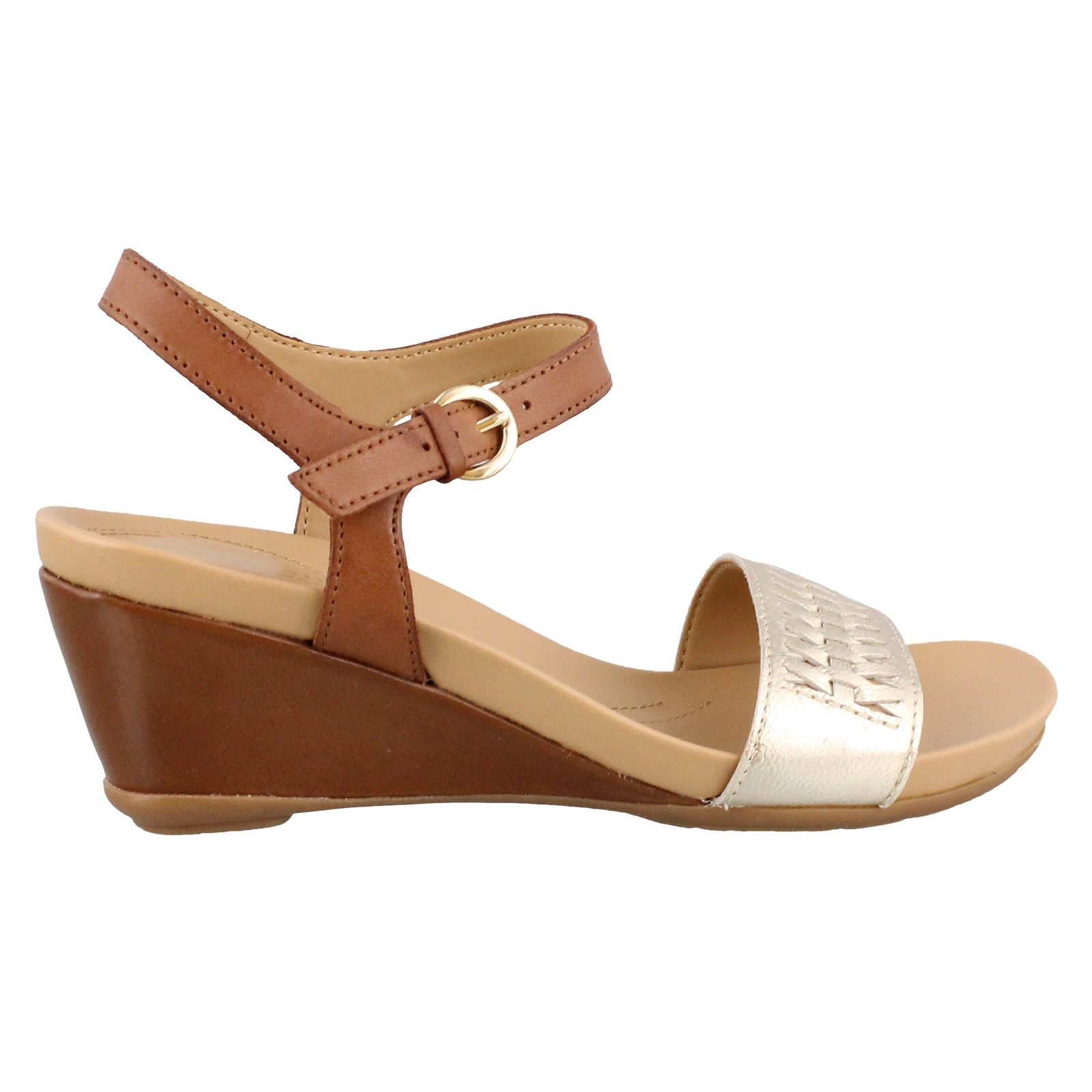 Women's Naturalizer, Swiftly Mid Heel Wedge Sandal