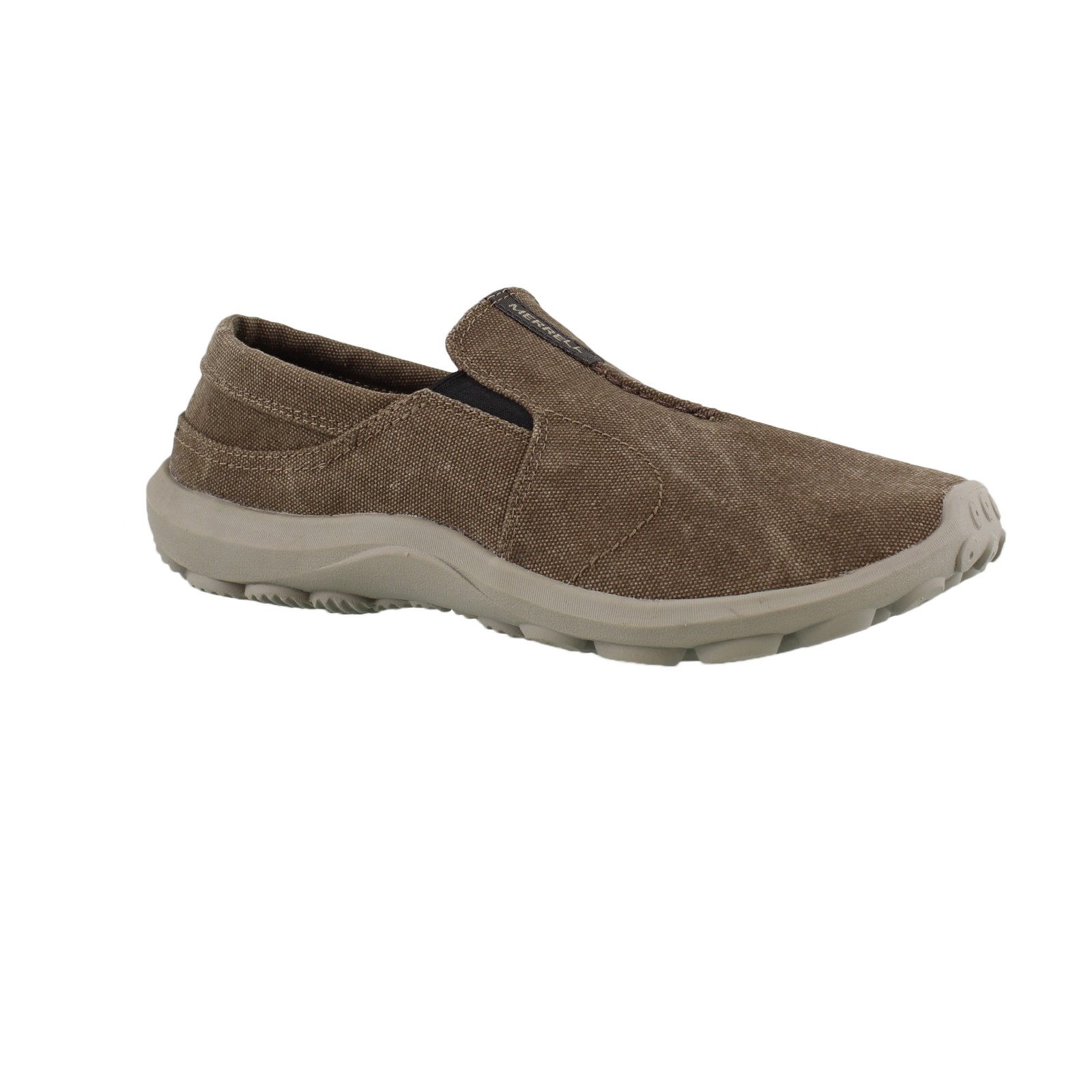 NEW Mens Merrell Jungle Ayers Moc Canteen Tan Brown Canvas Casual Slip On Shoes