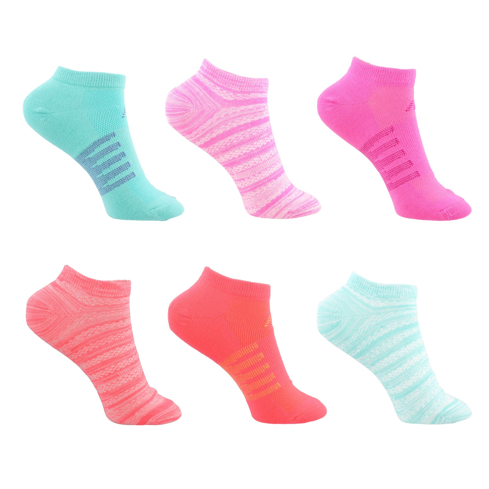 Women's New Balance, Lifestyle No Show Socks - 6 Pack