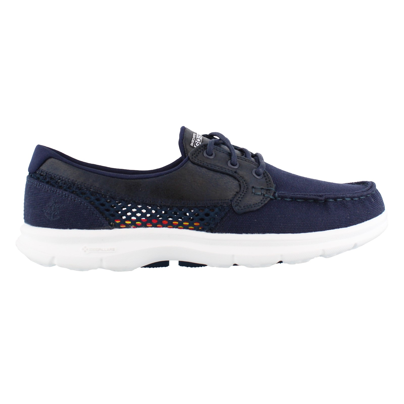 Women's Skechers Performance, Go Step Naval Lace up Boat Shoes