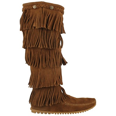 Women's Minnetonka, 5-Layer Fringe Boots