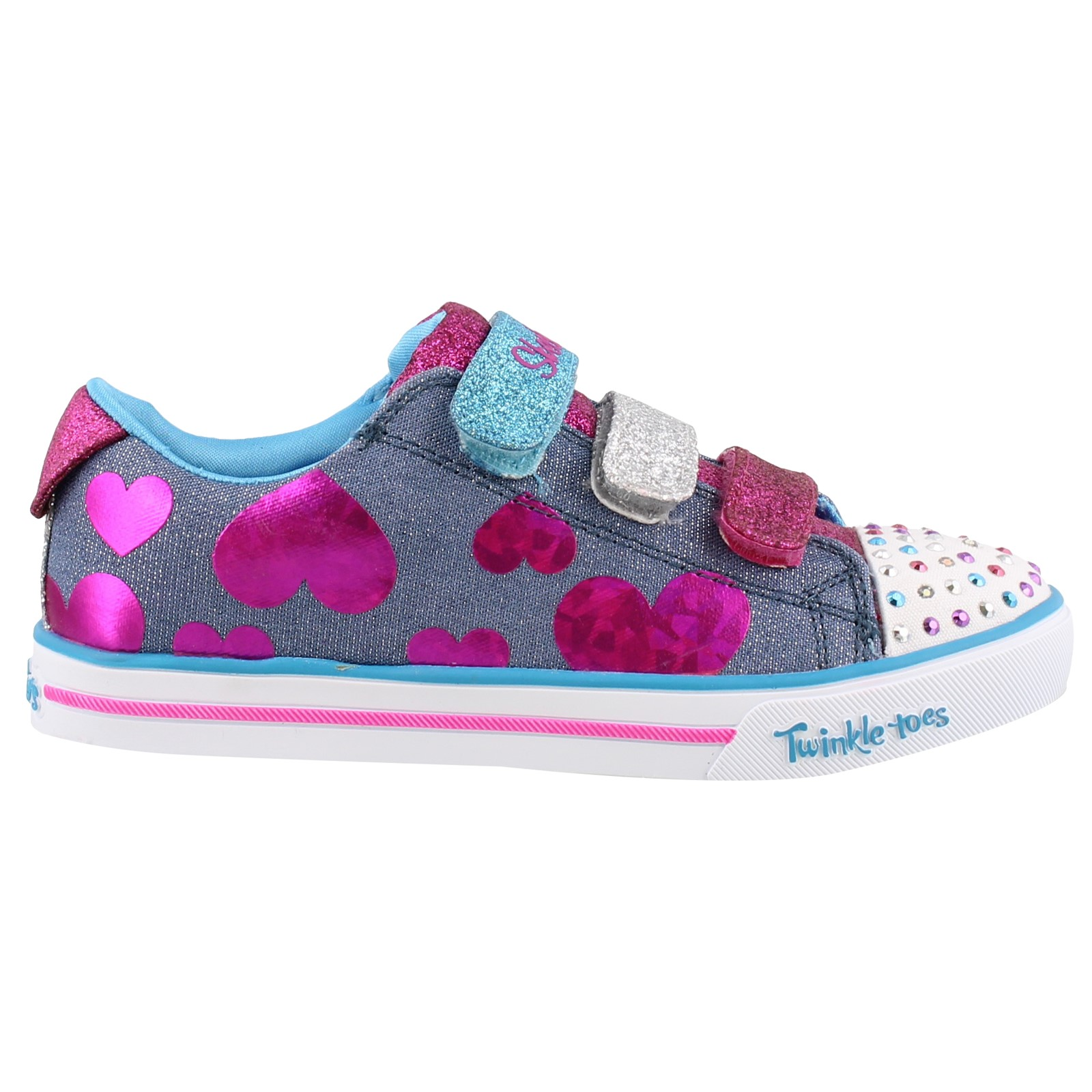Kid's SKECHERS GIRLS, SPARKLE LITE FLUTTER FAB