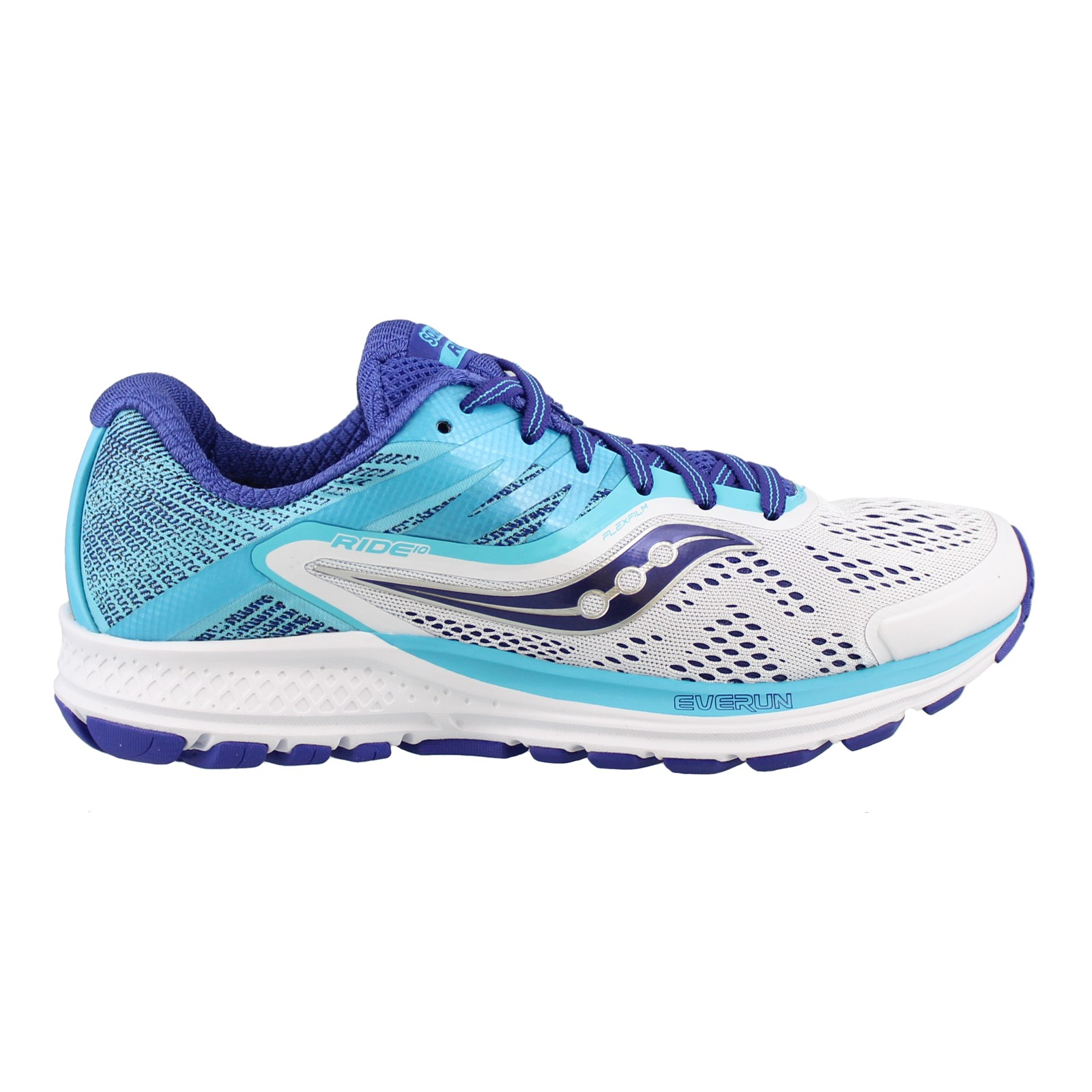 Women's SAUCONY, RIDE 10 RUNNING SNEAKERS WIDE