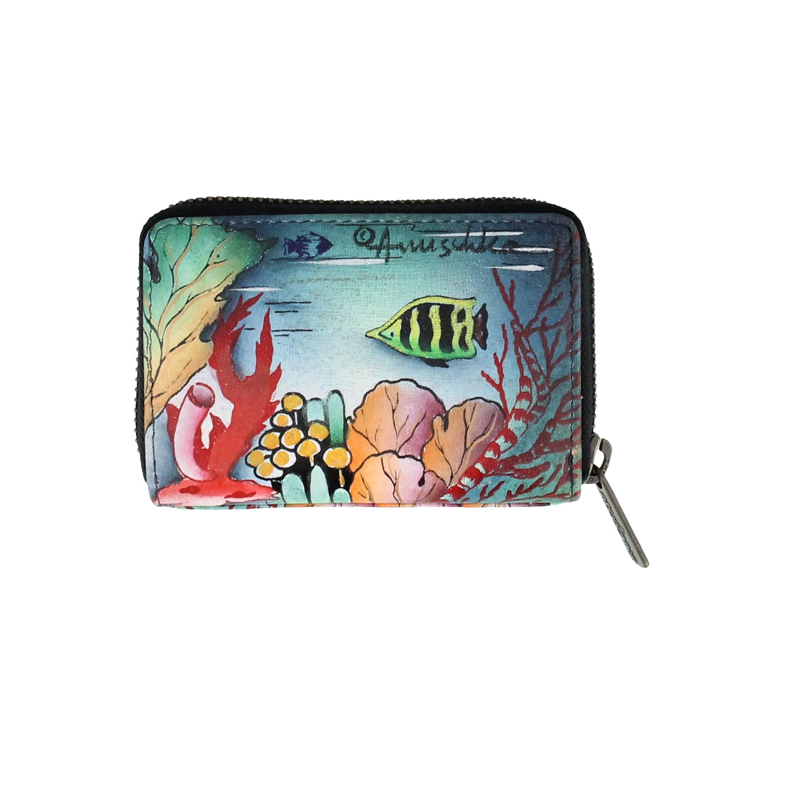 Anuschka Genuine Leather Credit and Business Card Holder Ocean Treasures
