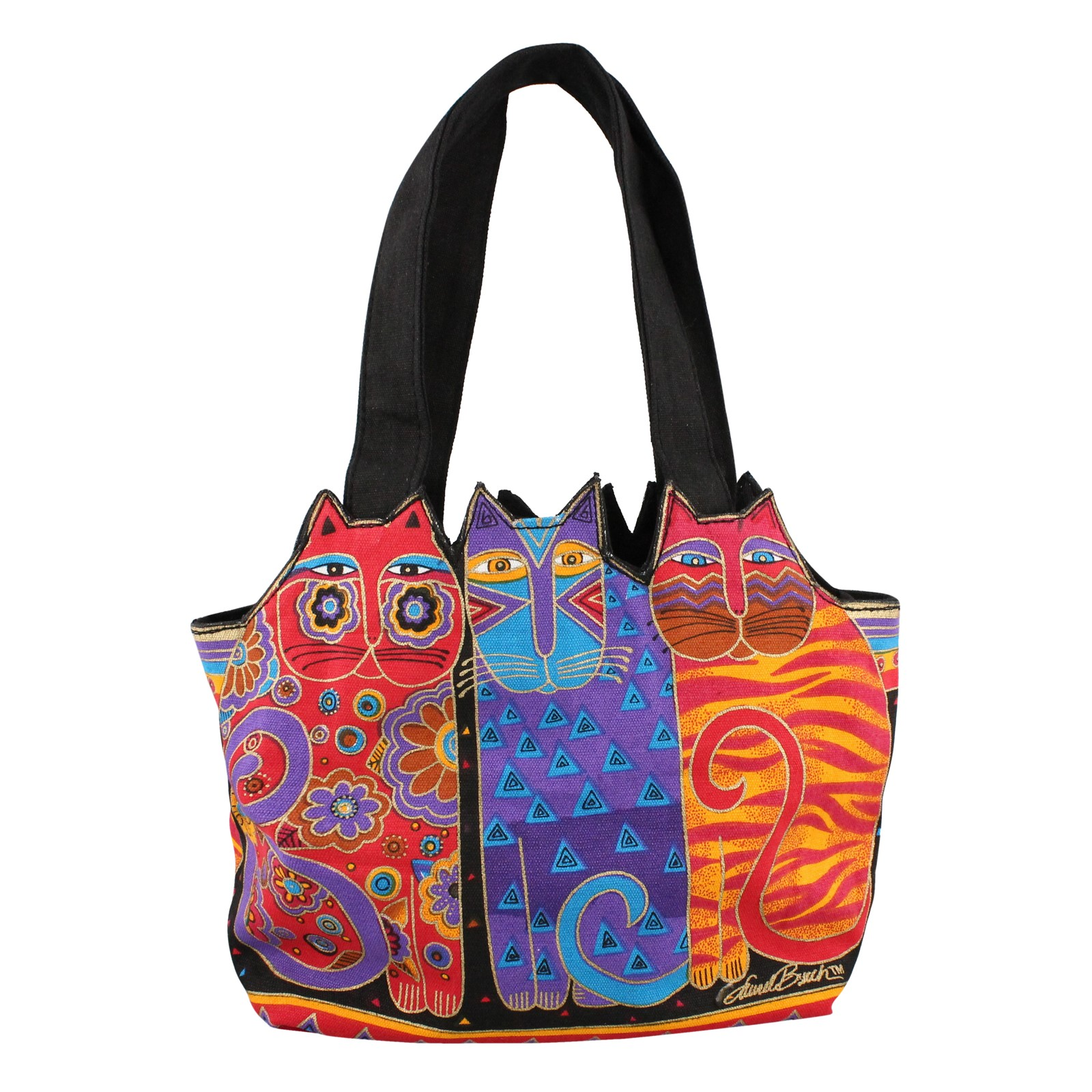 Women's Sun N Sand, Laurel Burch Feline Cut Out Tote