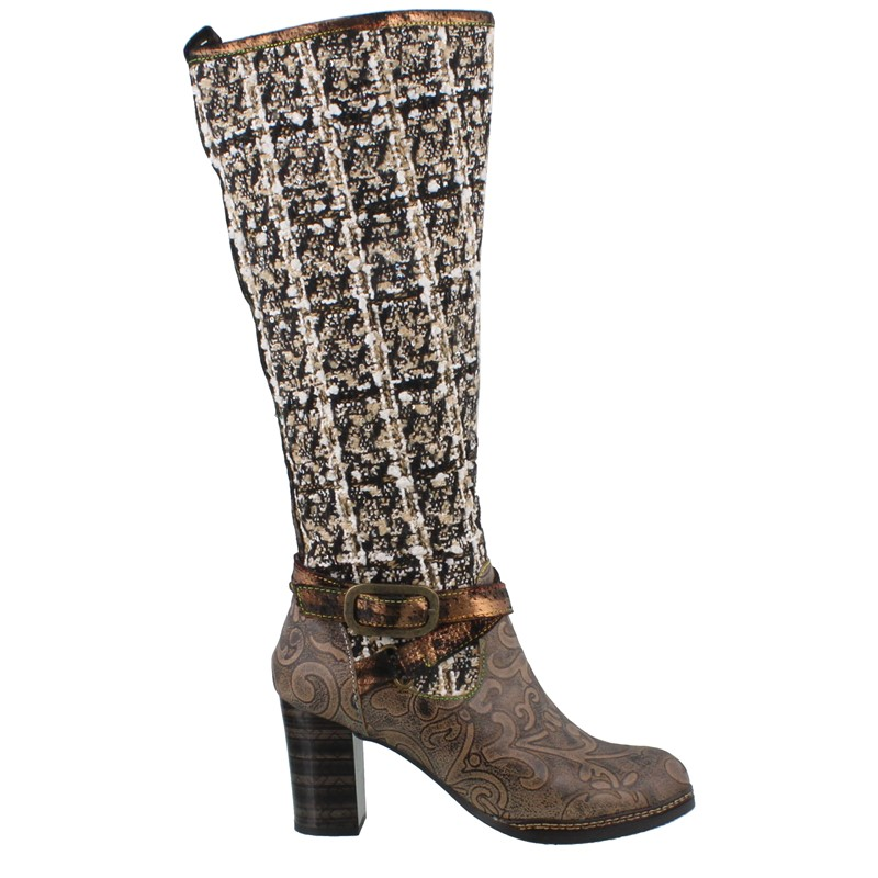 L'artiste Tweed Boot Clothing, shoes & Jewelry shoes