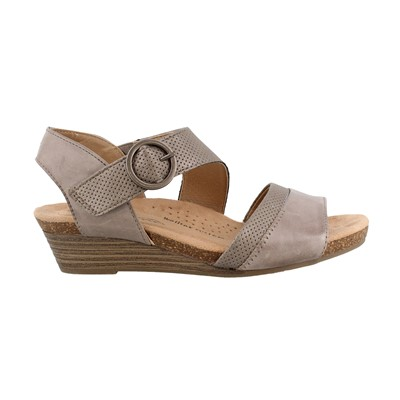Women's Earth Origins, Hazel Mid Heel Wedge Sandals