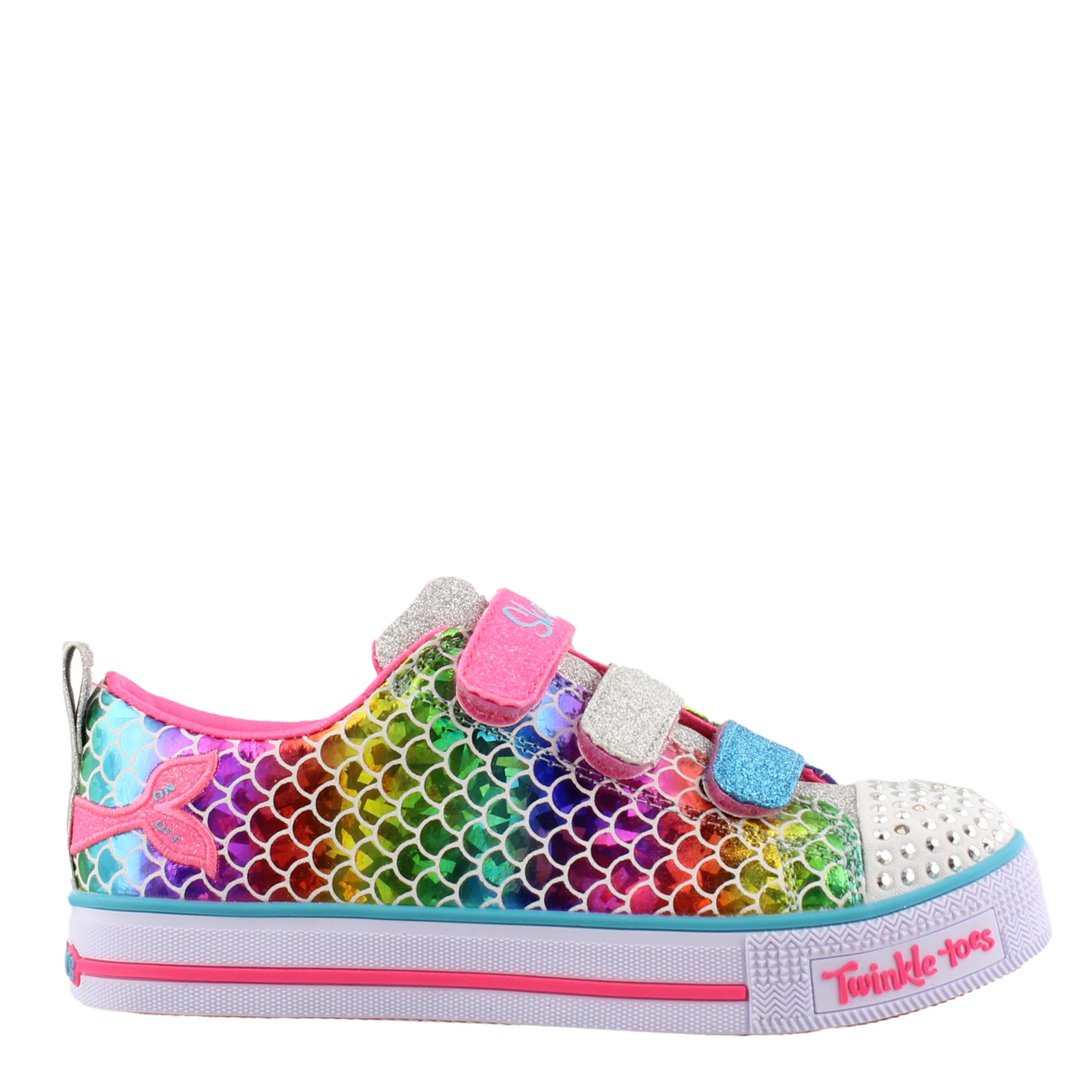 Girls Skechers, Twinkle Toes Twinkle Lite - Sparkle Scales - Little Kid