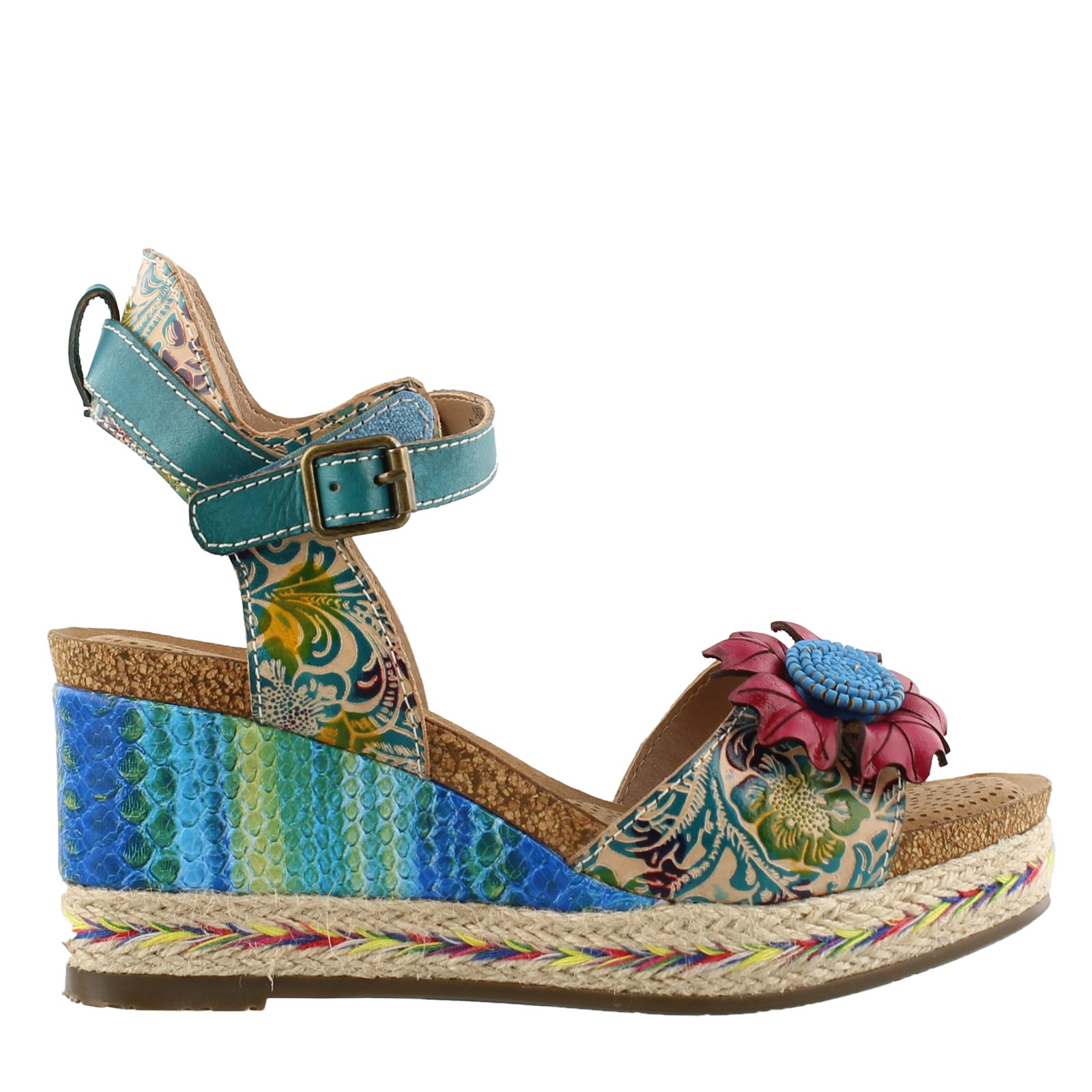 18689208b4 Home; Women's L'Artiste by Spring Step, Annmarie Wedge Sandal. Previous.  default view ...