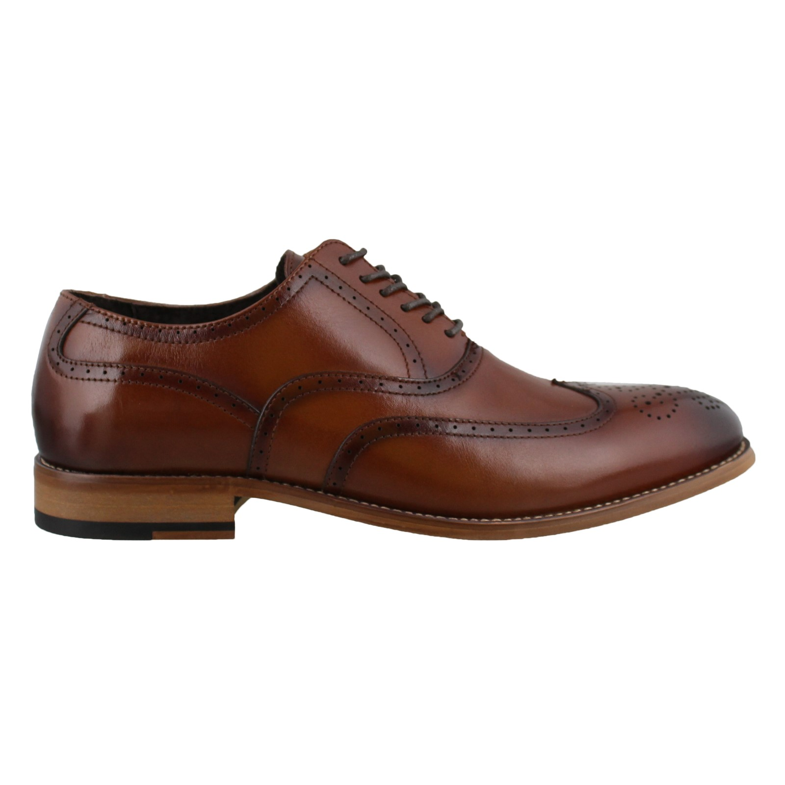 Men's Stacy Adams, Dunbar Lace up Wingtip Oxfords