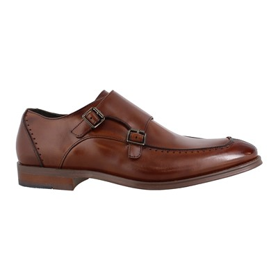 Men's Stacy Adams, Baldwin Moc Toe Double Monk Strap Shoes