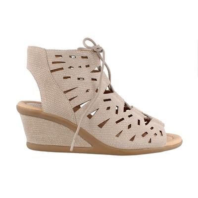 Women's EARTH, DAYLILY MID HEEL WEDGE SANDALS